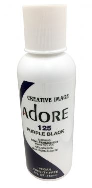 Adore hair dye colour 125 purple black