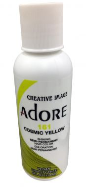 Adore hair dye colour 161 cosmic yellow