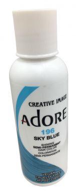 ADORE SEMI PERMANENT HAIR dye COLOUR 196 Sky Blue