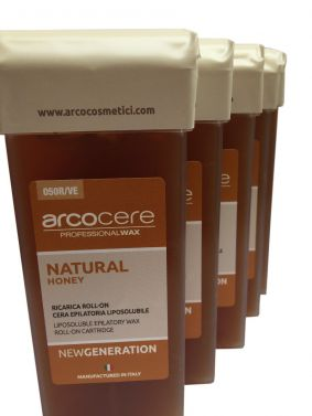 Arcocere Natural Honey  roll on  wax 5x100ml