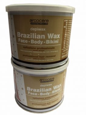 Arcocere Brazilian Hot Wax Non strip,Face, Body and Bikini 2x 400ml