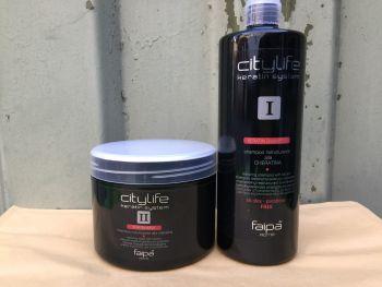 citylife keratin system hair shampoo and keratin mask