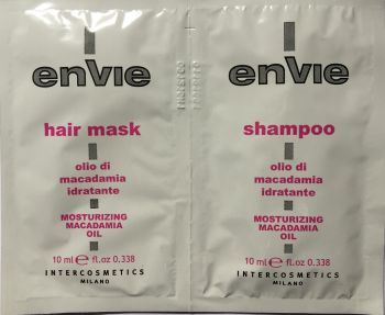ENVIE MACADAMIA HAIR MASK AND MACADAMIA HAIR SHAMPOO 20ML