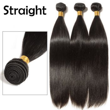 Brazilian peruvian virgin Human hair Extensions weave weft 100g 26inch