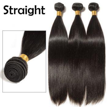 Brazilian peruvian virgin Human hair Extensions weave weft 100g 12inc