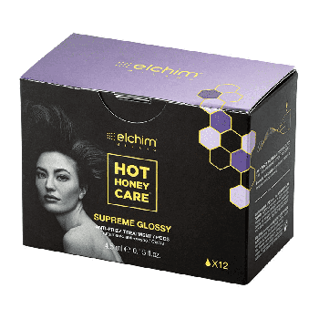 Elchim Hot honey care Supreme Glossy Anti frizz treatment pods x12