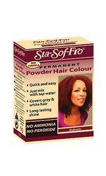 Sta-sof-fro hair dye colour medium chestnut  powder