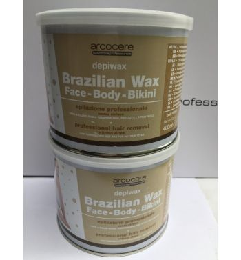 Arcocere Brazilian Hot Wax Non strip,Face, Body and Bikini 2x 400ml