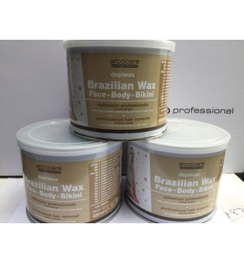 Arcocere Brazilian Hot Wax Non strip,Face, Body and Bikini 3x400ml