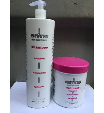 ENVIE MACADAMIA HAIR SHAMPOO AND MACADAMIA HAIR MASK 1000ML
