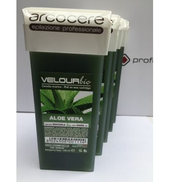 Arcocere Aloe Vera lisposoluble roller on cartridge hair wax removal 5x100ml