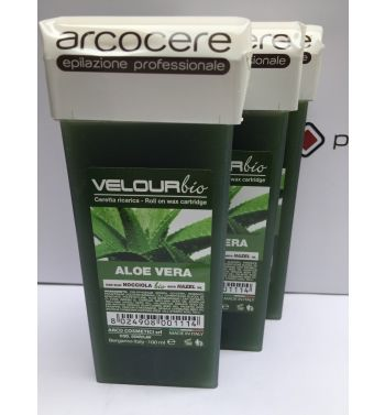 Arcocere Aloe Vera lisposoluble roller on cartridge hair wax removal 3x100ml