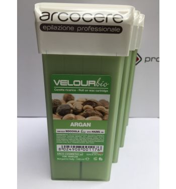 Arcocere Argan lisposoluble roller on cartridge hair wax removal 5x100ml