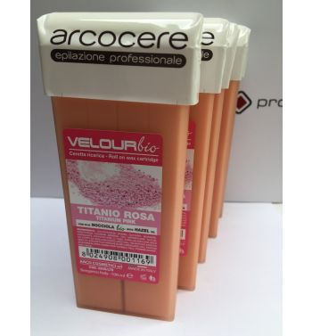 Arcocere Titanium pink Rose  roll on  wax 5x100ml