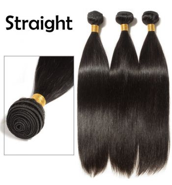 Brazilian peruvian virgin Human hair Extensions weave weft 100g 12inc