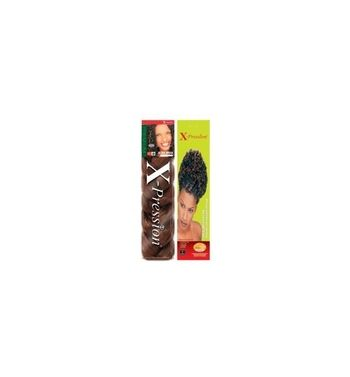 Hair extensions  x-pression ultra  braid  color 4