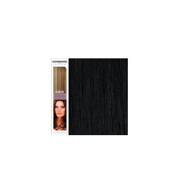 Super Model Clip In Human Hair Extensions 18 Inches. Colour 1