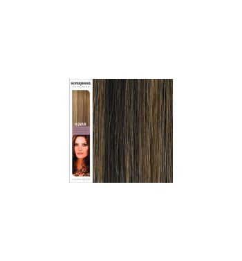 Super Model Clip In Human Hair Extensions 18 Inches. Colour 4/27