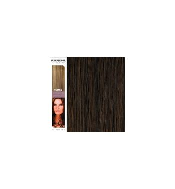 Super Model Clip In Human Hair Extensions 18 Inches. Colour 5