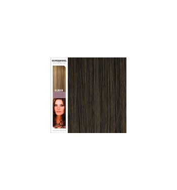 Super Model Clip In Human Hair Extensions 18 Inches. Colour 6