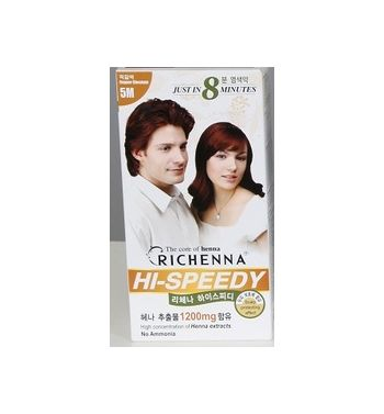 Hi-Speedy hair color  Richenna Copper chestnut