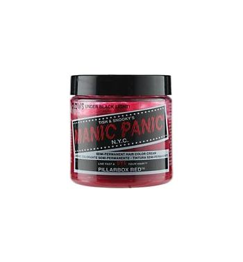 Manic panic hair dye pillarbox red colour